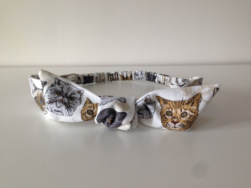 Meow star bow tie band
