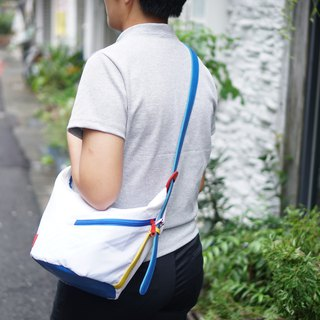 Bucket bag 3 way bag white colour