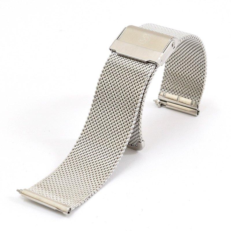 BOND STONE 20mm Stainless steel mesh belt Silver(40mm case only)