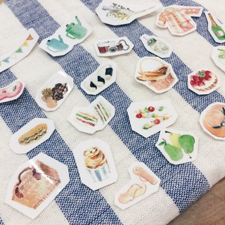 Picnic! Transparent stickers (20 into) by HAZEL varies with tempera