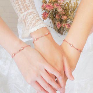 Bridesmaid gift rose white cat eye rotation love _2 into the group*闺 honey bracelet*customized * sister gift