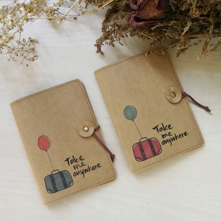 【Put me in your luggage (heart)】 hand-painted couple passport holder