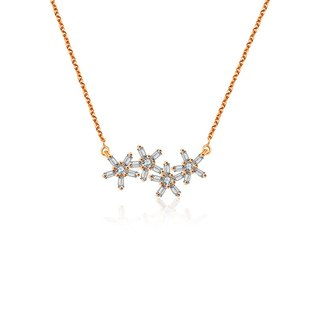 Flower Shape Diamond Necklace