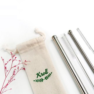 [KROLL] Pure Titanium Large + Small Suction Set (with 2 Cleaning Brushes + Drawstring 1 Entry) Made in Taiwan