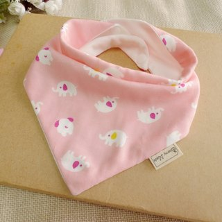 Triangle mouth towel - pink elephant
