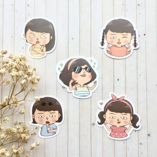 Mary Waterproof Sticker Set 5 Into