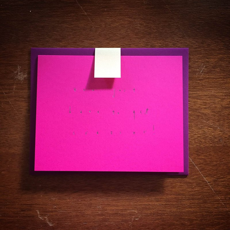 Beautiful Day Studio :: Universal Card You Just Have To Get Crazier! / Pink Card Hot Pink