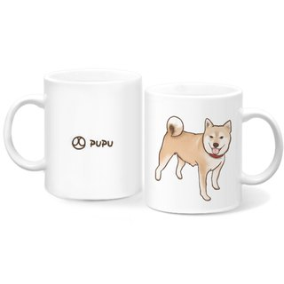 Shiba Inu - Standing Position - Original Illustration - Mug - Gift Custom - Flies Planet - Handmade Market -