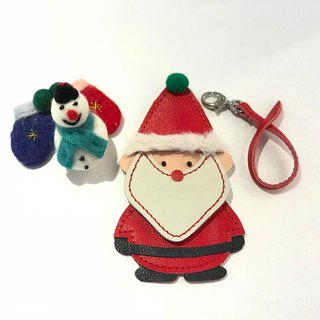 # # Free shipping # bag leather ornaments - Santa Claus Santa Claus