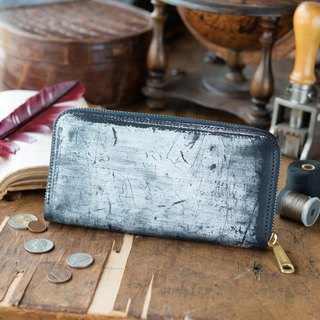 Japan manufactured cowhide ___ 包邮 青 blue Thomas Ware made in JAPAN handmade leather wallet