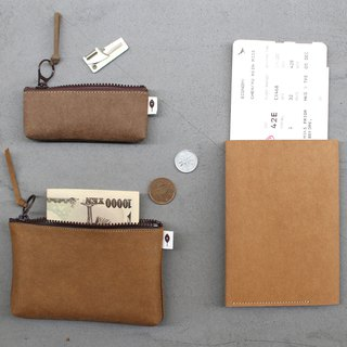 Goody Bag - Simple Travel - Passport holder with sim card pin, mezzanine coin purse, tiny storage bag