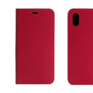 BEFINE iPhone X TASCA Leather Side Lift Case - Red (8809402594290)