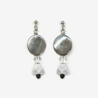 Black-and-white Film Collection - Mirrored Marble Earrings