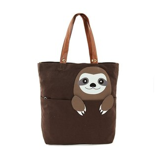 Cute tree 獭 / sloth children's fun canvas animal tote bag shoulder bag - Cool Le Village
