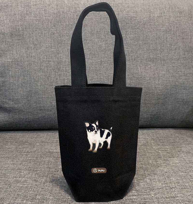 Black Series-Dairy Cow Chihuahua-Taiwan Cotton Linen-Wenchuang Shiba Inu-Bag-Environmental Beverage Bag-Fly Planet