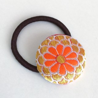 Hair elastic with Japanese Traditional Pattern, Kimono (Large) [Brocade]