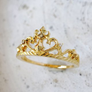 Tiara ring (cross · K18YG)