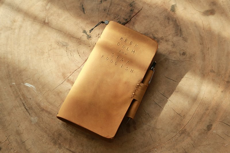 Leather notebook can be inserted into the pocket leather holster with notebook