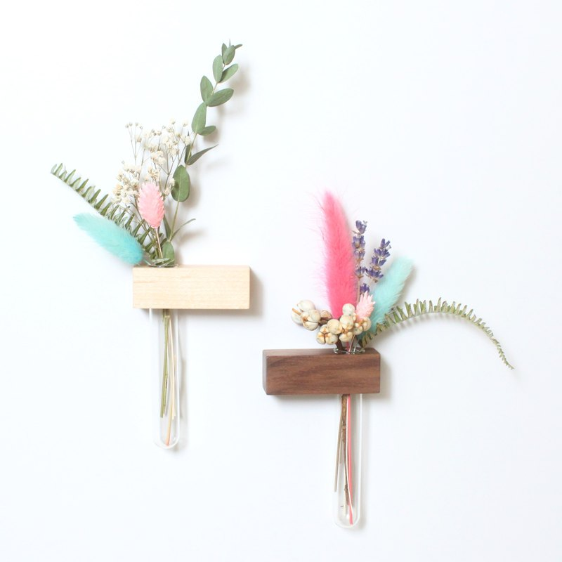 Mini garden square magnet 4 into the dry flower flower pen holder can add lettering Taiwan hand made