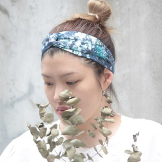 Dark night bloom designer Japan brought back soft cotton cloth handmade cross hair
