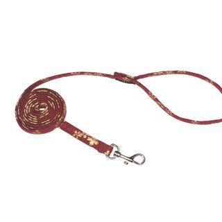 Pet leash, love, cherry blossom red