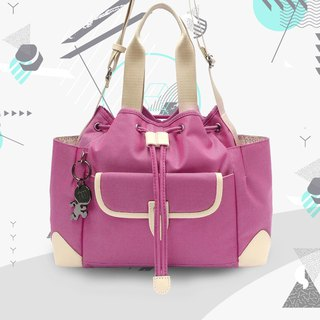 Free shipping I AM-TRINITY S Shoulder Bag / Short Shoulder Bag - Pink Purple / Beige