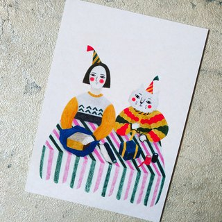 Give you a gift / double-sided postcard