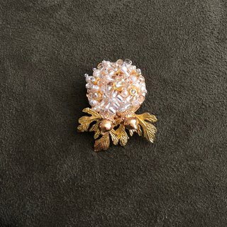 Japanese Style Pearl Brooch【Harvest Nuts】【Wedding 】【Christmas Gift】Birthday Gift