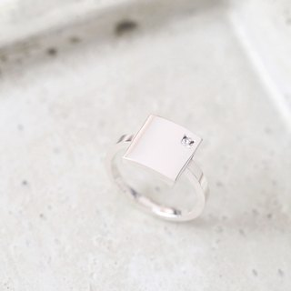 White square White square Ring Silver925