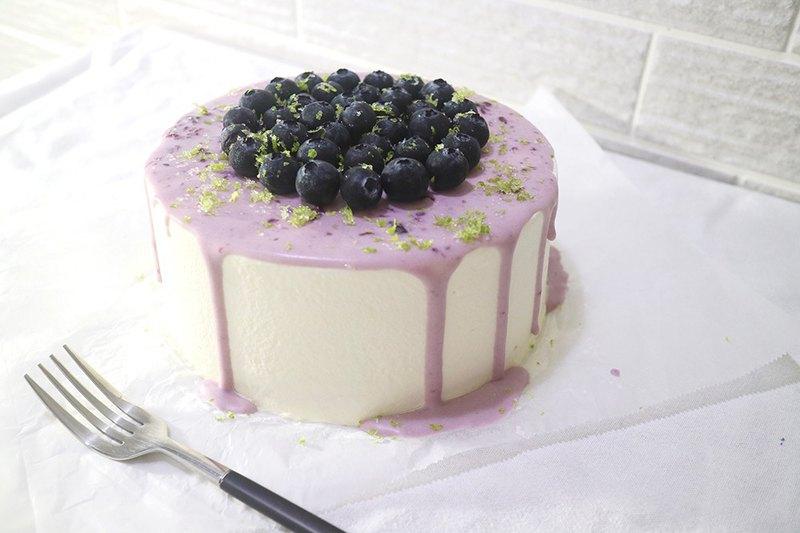 檸香藍莓戚風蛋糕