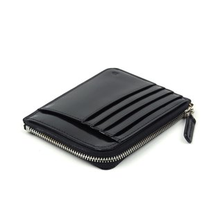 Card zip purse /Granite BLACK
