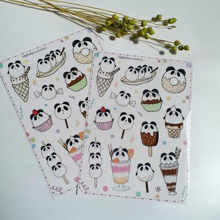 [Cute panda sticker] waterproof stickers
