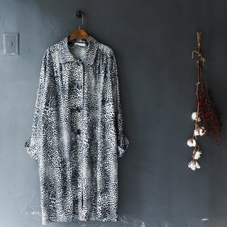 Rivers and mountains - Aichi silver white Leopard love log antique thin trench coat coat trench_coat dustcoat jacket coat oversize vintage