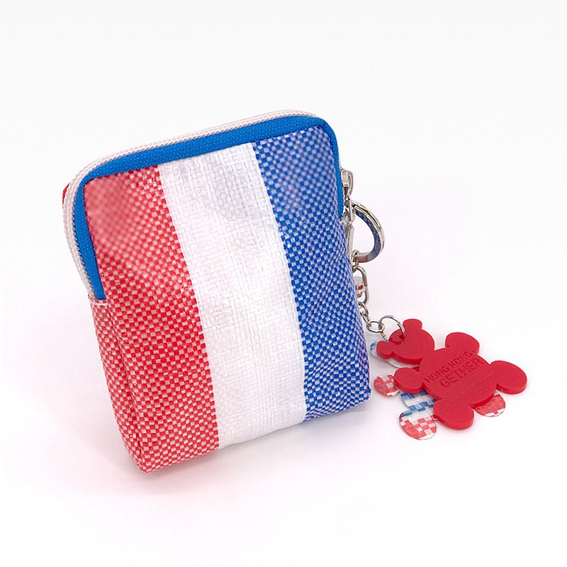 rwb330 X amm - bearwhiteblue coin pouch with keychain (2 bears)