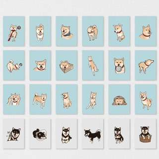 "Shiba Inu + Blackwood - all set of cards ""24"""