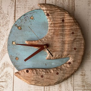 moon+earth wall clock