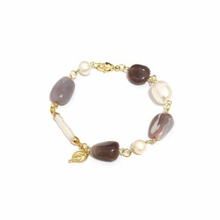 Chic Agate with Pearl Bracelet