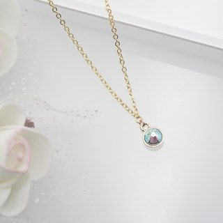 Swarovski Crystal Necklace (Color: Light Blue)