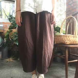 Hand-serving Japanese autumn and winter thick double-layer cotton bristles loose bubble pocket pants