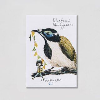 {BIRDER} Series - Blue-faced Honeyeater