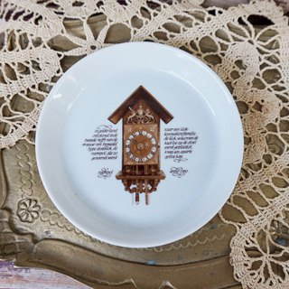 [Good day fetish] 4 German vintage retro antique clock commemorative snack plate