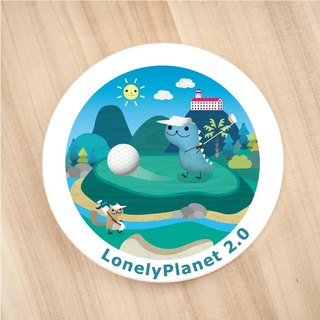 [Lonely Planet 2.0] ceramic water coaster - Danny Long play golf
