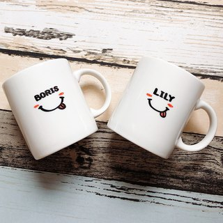 Goody Bag - Customized / Couple. Congratulations. Commemorative / Smile on the Cup (2 in) Free Christmas Pack