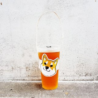 Modeling accompanying beverage cup set bag - Shiba Inu Yellow Chai Black Chai Baichai