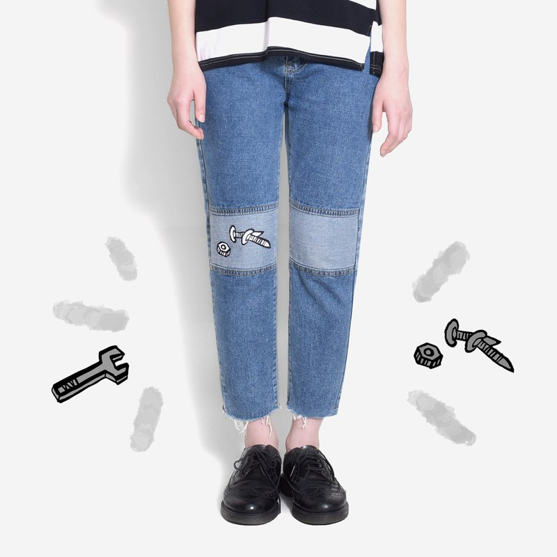 [Infant recommended] screw driver nails - small workers stitching jeans