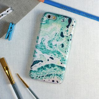 Green Oil painting. Matte Case (iPhone, HTC, Samsung, Sony)