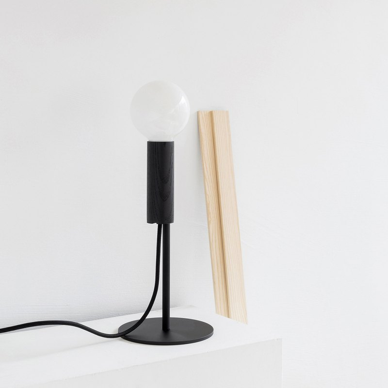 CHERRY Table Lamp | wooden lamp | black