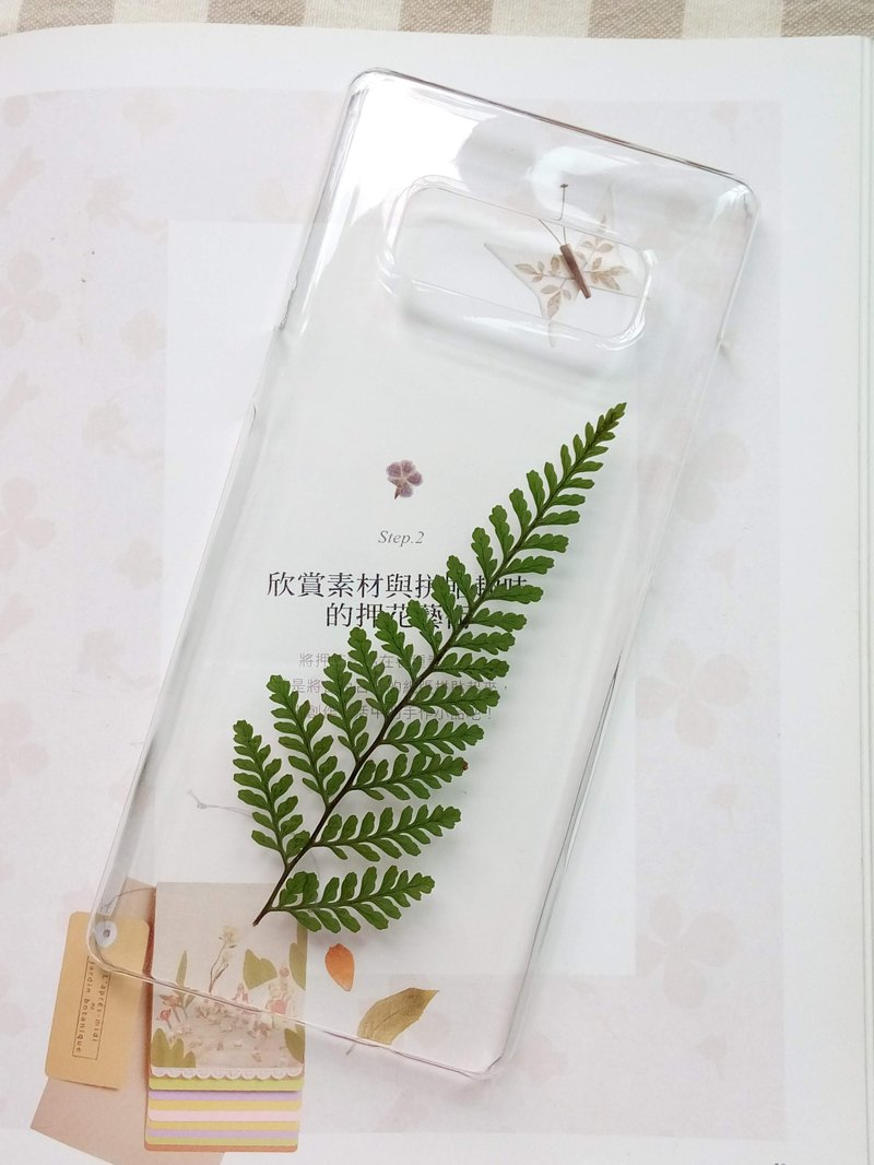 Pressed flower phone case, Samsung Galaxy note8, Nature color, On Sale