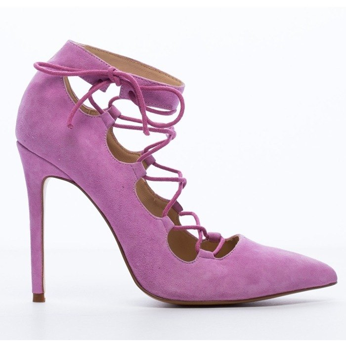 Saint Landry] [strap design sexy high-heeled shoes - pink bellflower