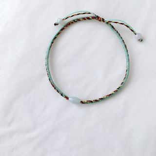 Emerald Transfer Beading Handmade Wax Line Bracelet Increase Good Luck Temperament Fine Bracelet Red Line Praying Emerald Lucky Rope